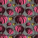 Pattern With Pumpkins Stock Photo