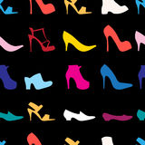 Pattern of womens shoes Stock Photo