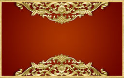 Pattern of wood. Frame carve flower Royalty Free Stock Images