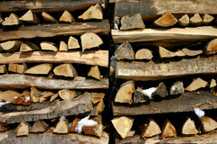 Pattern of wood. Wood-pile stock image
