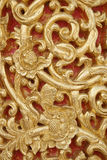 Pattern of wood carve gold paint for decoration. Pattern of wood carve gold paint for decoration Royalty Free Stock Images