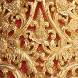 Pattern of wood carve gold paint for decoration. Pattern of wood carve gold paint for decoration Stock Images