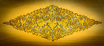 Pattern of wood carved. On background Royalty Free Stock Image
