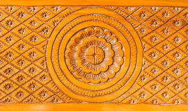 Pattern of wood carved native. On background Royalty Free Stock Photos
