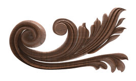 Pattern wood carving. 3d rendering of a pattern of wood carving on a white background stock illustration