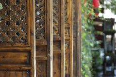 Pattern of the wood door. Chinese ancient architecture,800-year history of the ancient city of Stock Photography