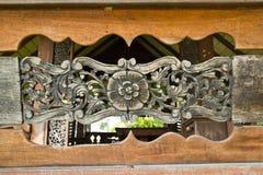 Pattern of wood frame carve flower Stock Image