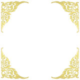 Pattern of wood frame carve flower on white background Royalty Free Stock Image