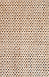 Pattern of wood mat. Close up pattern of brown wood mat Stock Photo