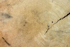 Pattern of wood surface. The pattern of brown wood on the cracks Royalty Free Stock Photography