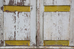 Pattern of wooden shutters with shabby paint Stock Images