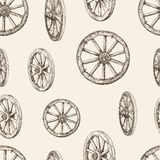 Pattern of wooden wheels Royalty Free Stock Images