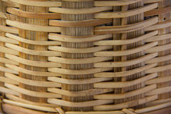 The pattern is woven with bamboo. Stock Image