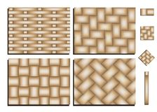 Pattern of woven bamboo stock illustration