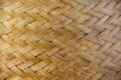 The pattern is woven with bamboo. Royalty Free Stock Images