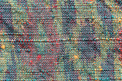 Pattern of woven fabric colorful. Royalty Free Stock Photos
