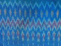 The pattern on the woven fabric. Woven fabric a crafting profession is famous for Amphoe Na Pho. In Buri Ram Province, Here is a major exporter of woven fabric Stock Image