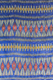 The pattern on the woven fabric. Woven fabric a crafting profession is famous for Amphoe Na Pho. In Buri Ram Province, Here is a major exporter of woven fabric Stock Images