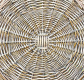 The pattern of woven wicker. Royalty Free Stock Images
