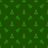 Pattern for wrapping paper. Christmas tree on a green background Stock Photography
