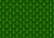 Pattern for wrapping paper. Christmas tree on a green background Stock Photos