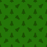 Pattern for wrapping paper. Christmas tree on a green background Royalty Free Stock Photos