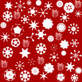 Pattern for wrapping paper and filled with stars and snow Stock Photography