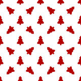 Pattern for wrapping paper. Red Christmas tree Royalty Free Stock Photo