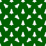 Pattern for wrapping paper. White Christmas tree Royalty Free Stock Images
