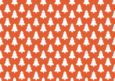 Pattern for wrapping paper. White Christmas tree on red  Royalty Free Stock Photo