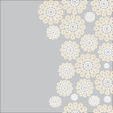 The pattern of wreaths. The pattern is composed of delicate wreaths of different sizes on a gray background Royalty Free Stock Images