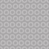 Pattern with wreaths of white flowers on a grey background Royalty Free Stock Image