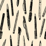Pattern of writing instruments Royalty Free Stock Photography