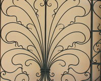Pattern of wrought iron Stock Photography