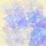 Pattern on yellow background abstract illustration. Pattern on yellow background abstract pattern with triangular elements Stock Photography