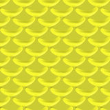 A pattern of yellow bananas. On a yellow background royalty free illustration