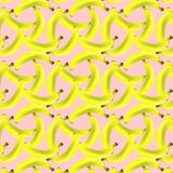 A pattern of yellow bananas Royalty Free Stock Photo