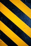 Pattern yellow and black. Is sign warning something on the road Stock Photos