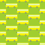 Pattern with yellow buses Royalty Free Stock Images