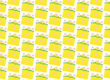 Pattern yellow envelopes. Flat illustration vector illustration