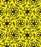 Pattern of yellow flowers Royalty Free Stock Image