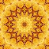 Pattern yellow geometric kaleidoscope symmetry. decorative. Pattern yellow geometric kaleidoscope symmetry abstract design. decorative stock illustration