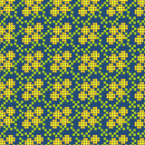 Pattern of yellow - green flowers Stock Photo