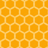 Pattern with yellow honeycombs Stock Images