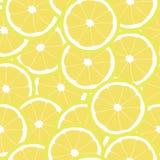 Pattern of yellow lemons Royalty Free Stock Photos