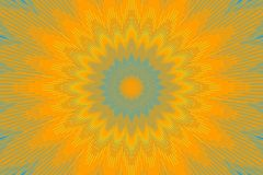 Pattern yellow orange floral kaleidoscope. sunflower. Pattern yellow orange floral kaleidoscope background illusion. sunflower stock illustration