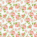 Pattern with yellow and pink roses Royalty Free Stock Images