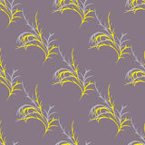 Pattern with yellow sprigs Stock Photography