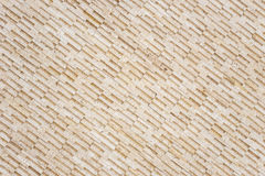 Pattern of yellow travertine wall texture Royalty Free Stock Photography