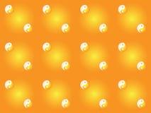 Pattern with yin yang symbols Stock Image